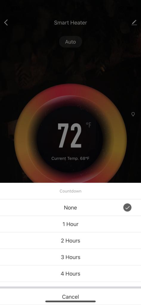 heater countdown