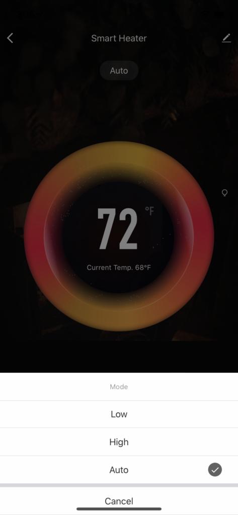 heater modes