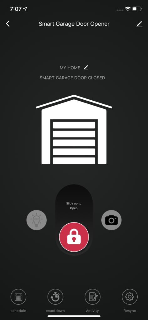 Garage App Screen