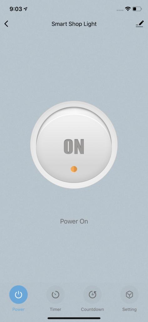 Shop Light App Screen