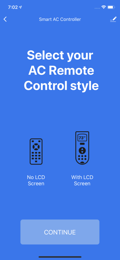 Select AC Remote Style