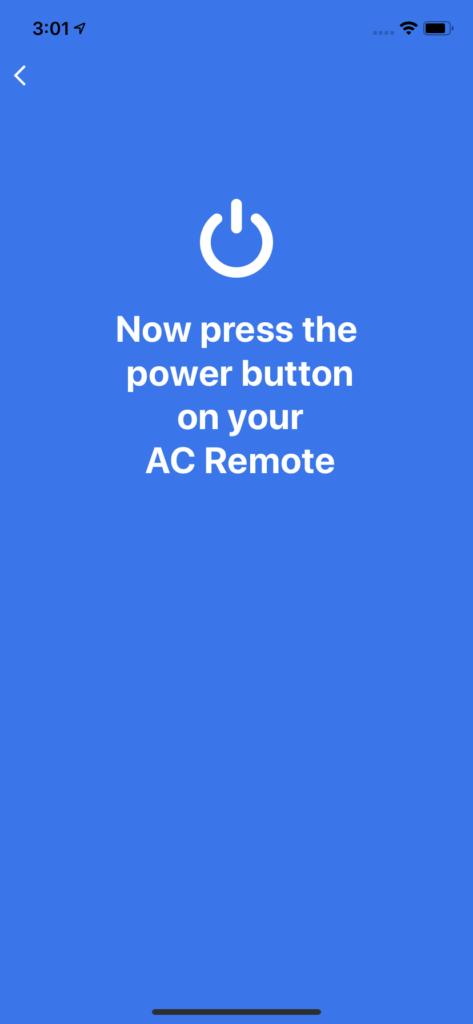 Confirm Press Power AC